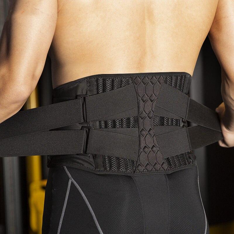 Мужской и Женский поясной триммер, поддержка позвоночника, стальной пояс, поддержка для спортзала, фитнеса, тяжелая тяга, поясничный бандаж для спины, спортивные аксессуары