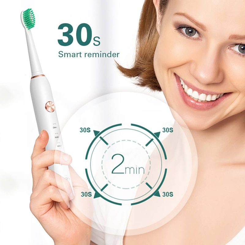 Waterproof Dental Brush Teeth Whitening Timer Sonic Electric Toothbrush USB Rechargeable 5 Modes Ultrasonic Automatic Bush enlarge