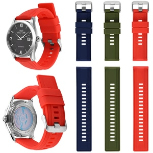 1PC High Quality Durable Multicolor Soft Silicone Watch Strap Fashion Classic sports Straps Unisex Waterproof Watch Accessories