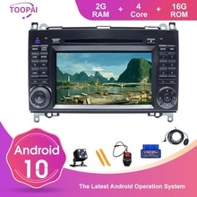 TOOPAI Android 10 para Benz B Clase V W169 W245 B160 B170 B200 W639 Vito W906 Sprinter auto reproductor Multimedia GPS navegación DVD