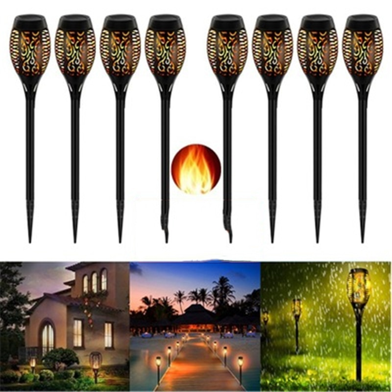 Llama Solar LED, lámpara para exteriores, luces solares de jardín, lámpara parpadeante, patio, balcón, césped, foco para iluminar el camino, venta al por mayor