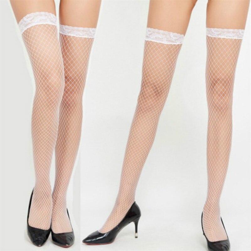 Женские сексуальные чулки в сетку, кружевные высокие чулки, сексуальные чулки, женское нижнее белье выше колена, чулки для женщин, подарок