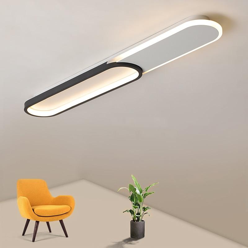 Led مصباح السقف الحديثة الحد الأدنى موضة طويلة الممر أضواء الممر أضواء الشرفة خلفية cloakroom مصابيح