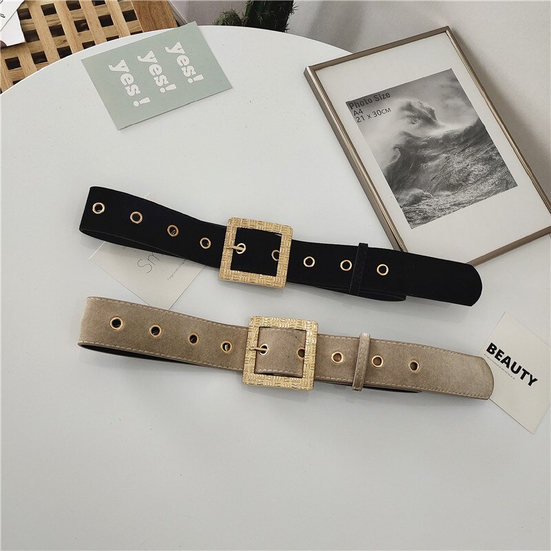 Women's Buckle Waist Seal Pin Buckle Wide Belt Lace-up Body Shaping Fashion Outerwear Accessories Sh