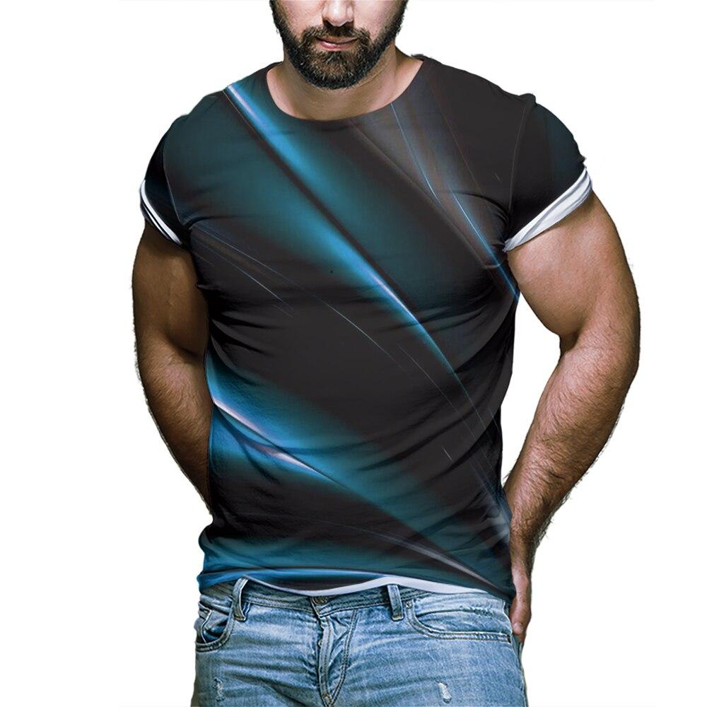 Быстросохнущие Мужские футболки в горошек, мужские футболки с коротким рукавом и градиентом, Мужская одежда, крутые и красивые повседневны...