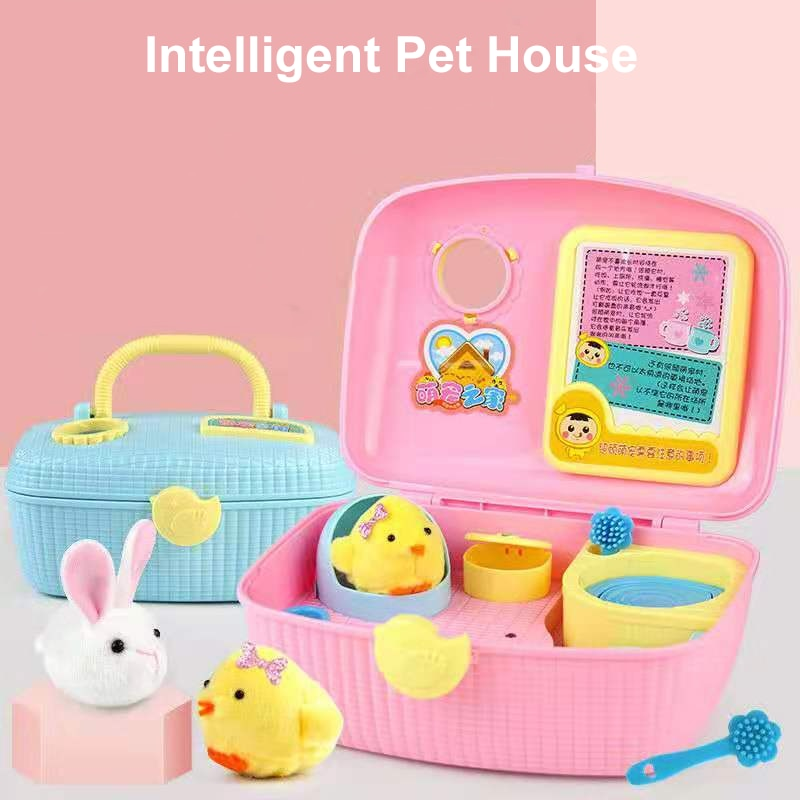 Electronic Pet Chicken Cute Children Toys Electronic Chick Pets Chicken Gift Nurturing House  Gift for Baby Girl