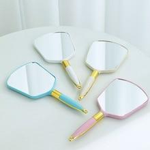 Vintage Handheld Makeup Mirror for Makeup Accessories Beauty Hand Mirror Vanity Mirror SPA Salon Cos