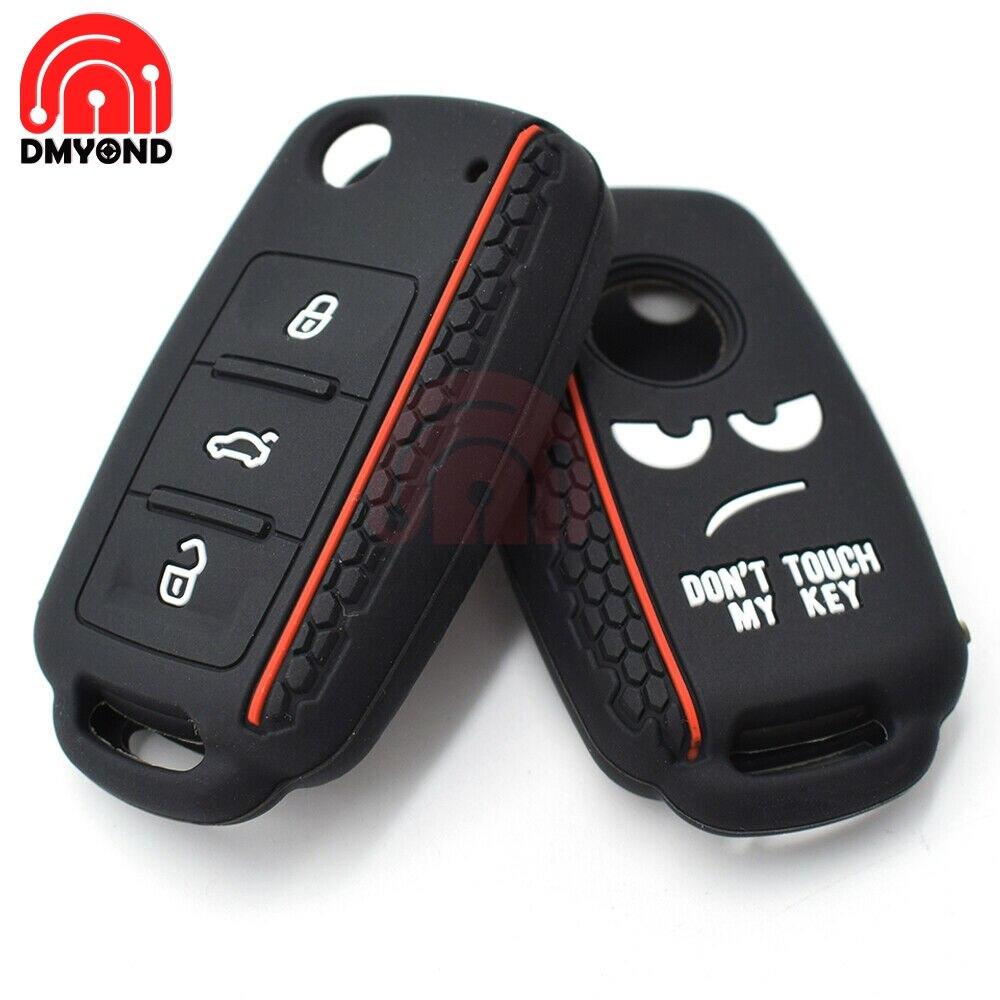Capa de silicone com controle remoto, capa estilo flip de carro com controle remoto 7 teclas