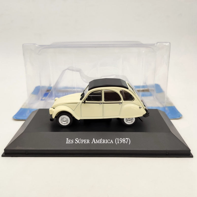 IXO 1:43 Citroen 3CV IES Super America 1987 beige Diecast Models Limited Edition Collection ixo altaya 1 43 scale ford mustang shelby gt 350h 1965 cars diecast toys models limited edition collection white