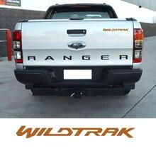 Acessórios do carro 1 peça wildtrak carta gráfico adesivo de vinil para porta ou traseira da bagageira adesivo decalque apto para ford ranger
