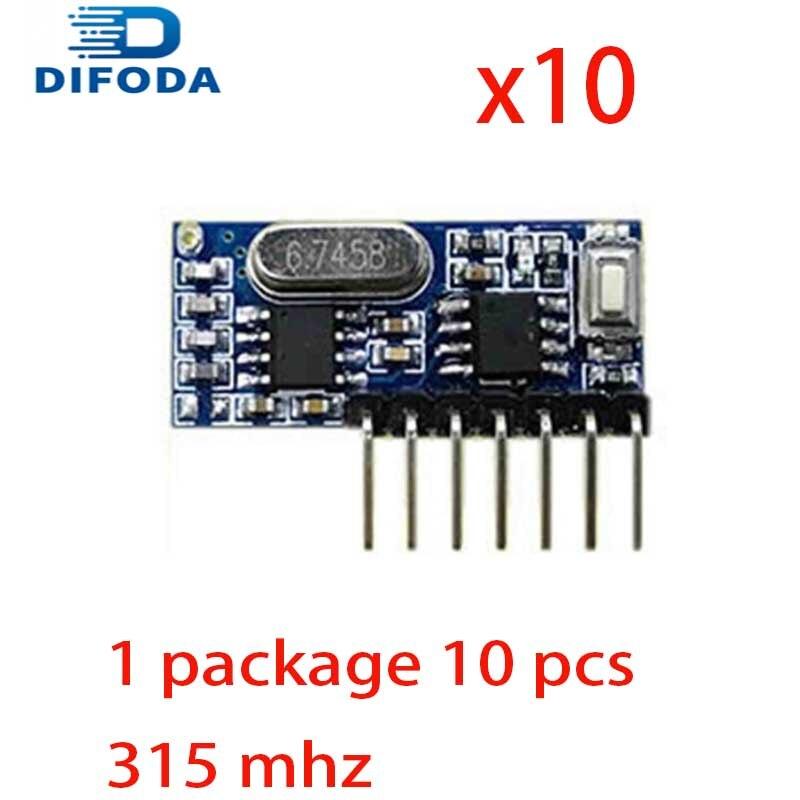 Interruptor de Control remoto inalámbrico de 315Mhz, 20 unidades, relé RF DIFODA de 4 canales, módulo de aprendizaje de codificación EV1527 para receptor de relé de luz