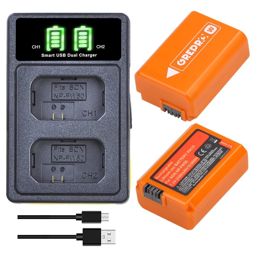 NP-FW50 NP FW50 batería con cargador para Sony A6000 A5000 NEX-3 NEX-7...