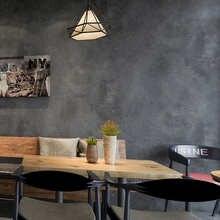 Темно-серый винтажный виниловый бетонный настенный эффект настенная бумага Ретро простая текстура ПВХ настенная бумага для спальни гостин...