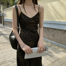 Leopard Print Strap for Women 2021 Spring and Summer New Korean Style Slim Temperament French Sexy B