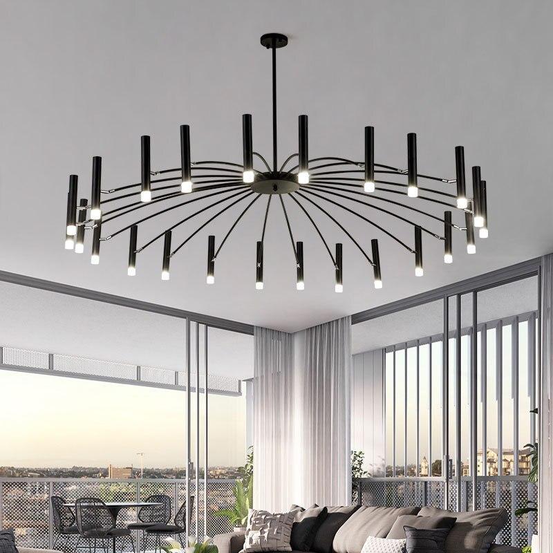 التصميم الحديث الفن LED أضواء الثريا غرفة المعيشة قلادة مصباح غرفة نوم مطعم مصابيح تعليق للزينة المنزل ديكو تركيبات