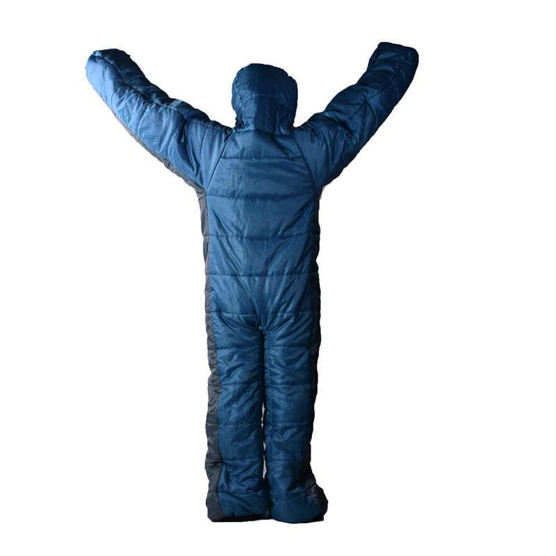 Humanoiden Schlafsack Winter Komfortable Warme Outdoor Camping Tragbare Faul Schlafsack Rucksack Reise Wandern Ausrüstung Schlafsäcke Aliexpress