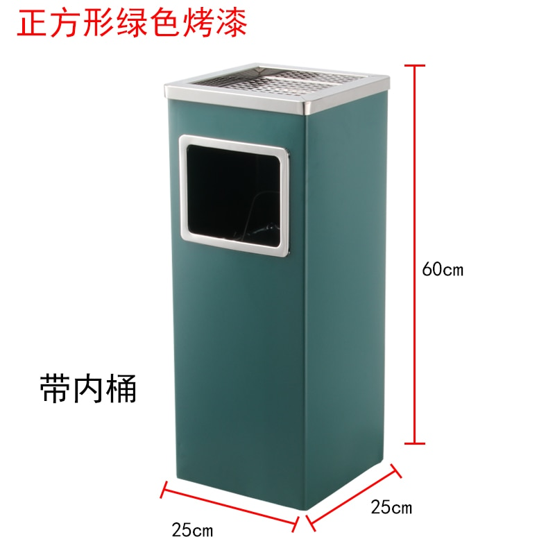 304 Stainless Steel Trash Can Big Size Outdoor Food Waste Trash Compactor Office Accessories Kosz Na Smieci Cleaning Accessories enlarge