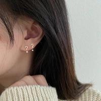 creative symbol stud earring women luxury zircon question exclamation mark tiny earring minimalist rhinestone party ear jewelry