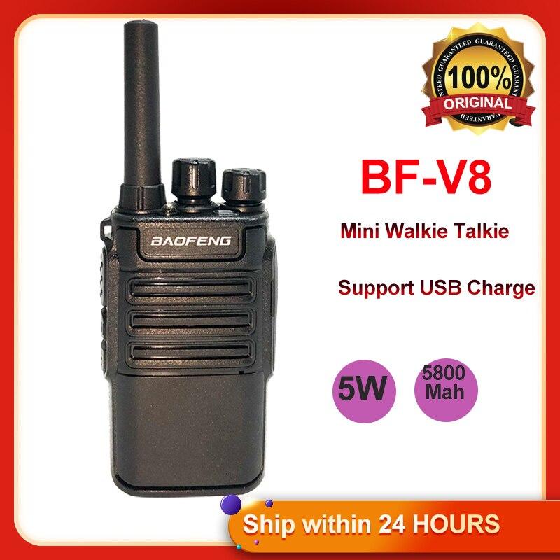 Портативная любительская радиостанция Baofeng Mini BF-V8 2021, портативная УВЧ рация BAOFENG BF V8, быстрая зарядка через USB