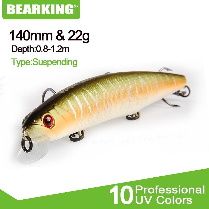 BEARKING 1PCS Angeln locken 14cm 22g Minnow kunststoff künstliche angeln wobbler werkzeuge ruck fisch esca angehen