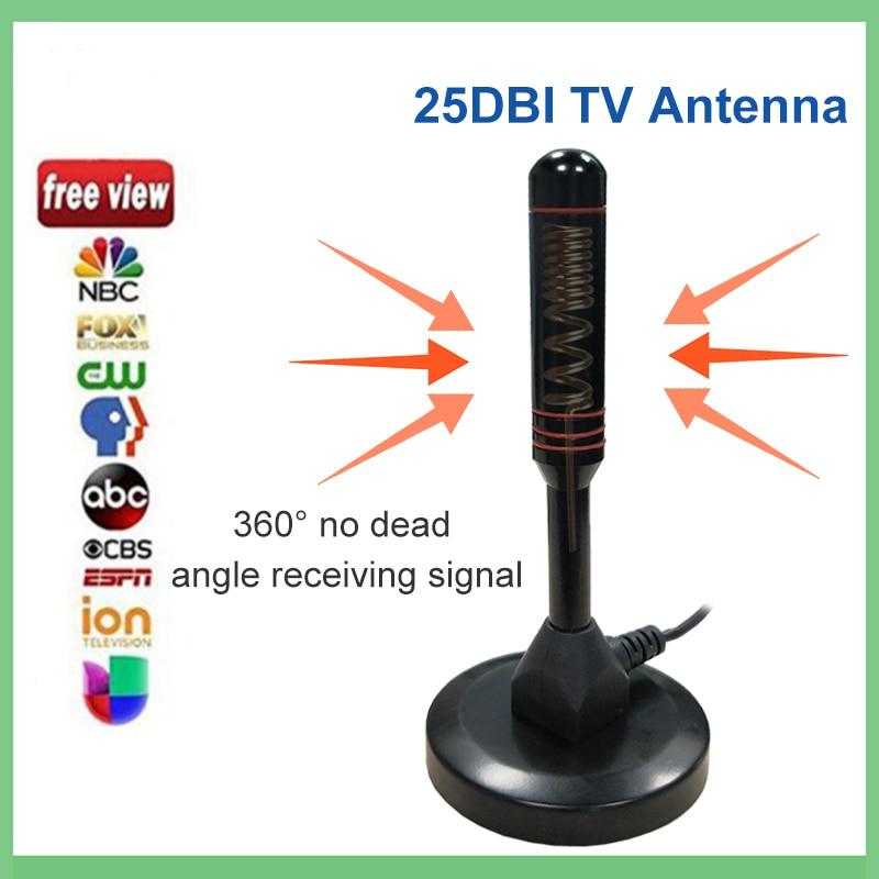 Antena de tv digital hqclear para interior y exterior, amplificador de señal...