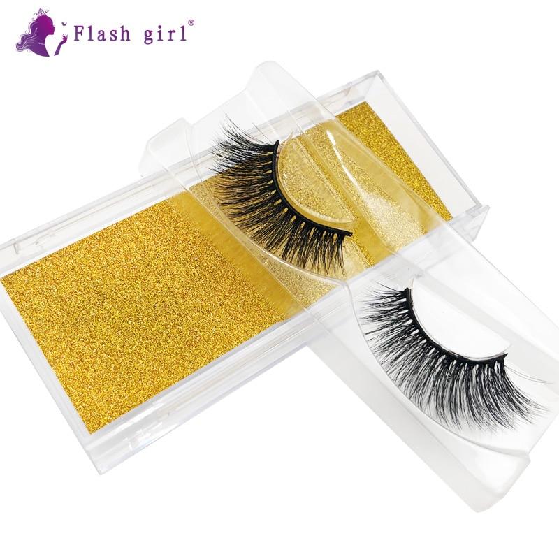Flash Girl 3D Mink Eyelashes Makeup Thick Natural Long False Eyelashes High Volume Fluffy Fake Eye L