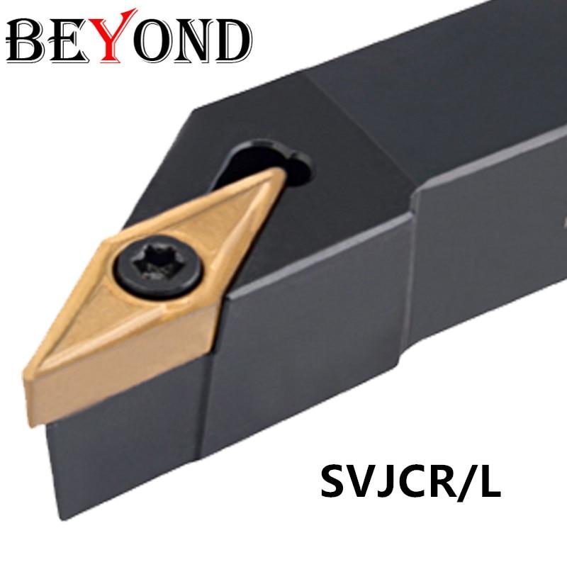 BEYOND SVJCR 1010 SVJCR1212H11 SVJCR1616H11 lathe turning tools External tool holder carbide inserts VCMT SVJCR2020K11 SVJCR2525