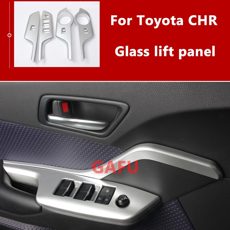 ABS Matte Auto Interior Door Armrest Panel Window Button Cover Trim LHD For Toyota CHR C-HR 2018 2019 2020 Accessories enlarge