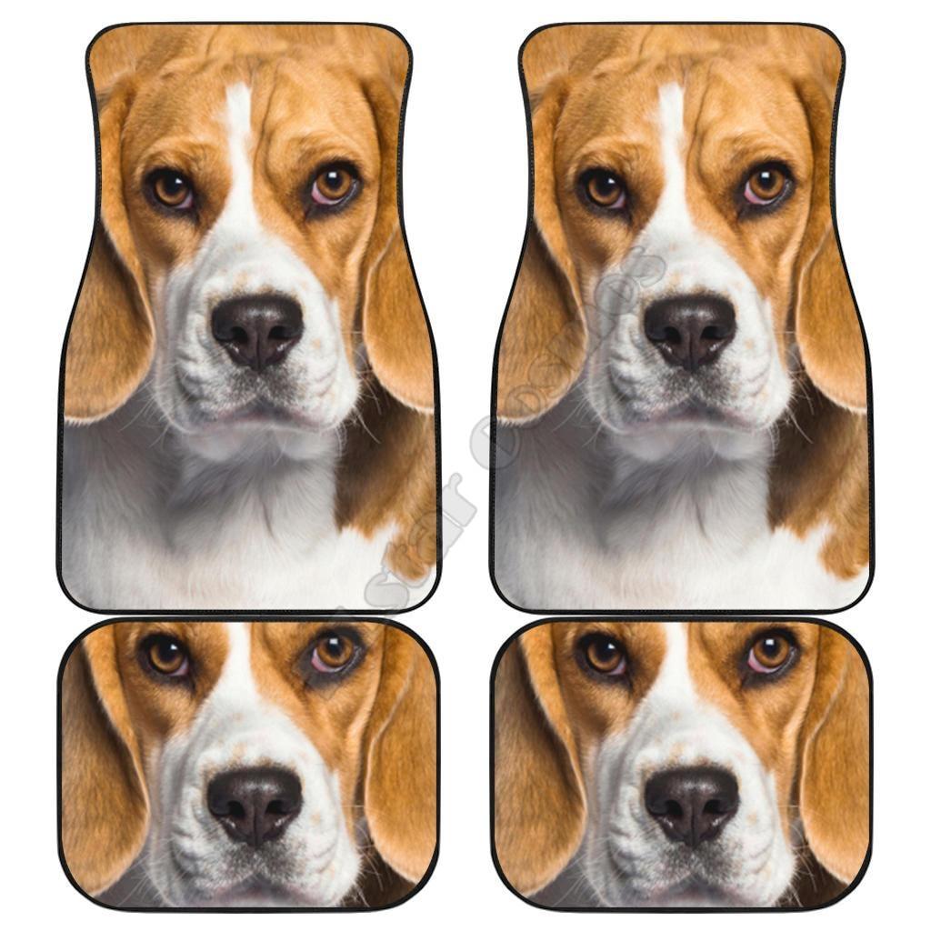 Beagle الكلب الحصير سيارة بيجل الوجه ثلاثية الأبعاد المطبوعة نمط الحصير يصلح لمعظم السيارات المضادة للانزلاق رخيصة ملونة