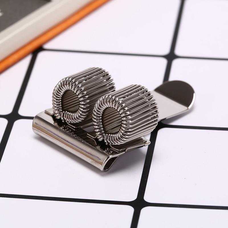 Lapicero de Metal plateado con Clip de bolsillo para médicos enfermeros, soporte para bolígrafo para uniformes, 2 orificios creativos