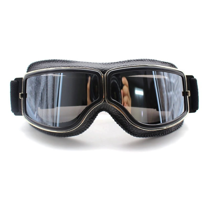 Vintage Motorcycle Goggles Retro Motorbike Scooter Biker ATV Glasses Universal Helmet Goggles Foldable Vintage Off-Road motorcycle atv riding scooter driving flying protective frame clear lens portable vintage helmet goggles glasses for 2009 buell xb12r