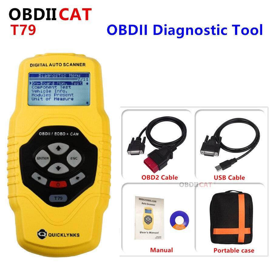 free shipping gds n3011 packaging machinery color code sensor OBDIICAT Quicklynks Diagnostic Scan Tool OBDII Auto Scanner T79 Code Reader Auto Code Scanner Free Shipping