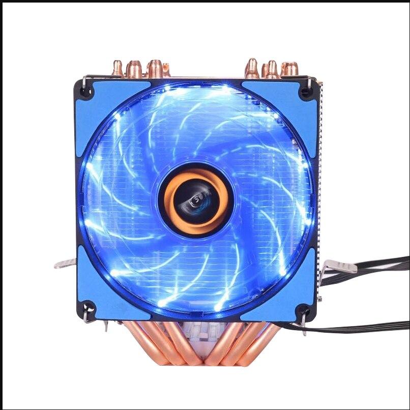 JSFFFL 6 wärme-rohre RGB CPU kühler Cooling 2 Fan Für Intel 1155 1156 1366 2011 X79 X99 motherboard