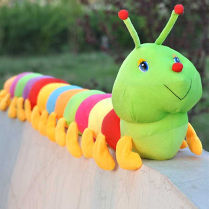 colorful cute caterpillar big insect plush toys doll with pp cotton stuffed animal pillow for children adult gifts Hot 50/80CM Colorful caterpillar plush toy pillow caterpillar big insect doll Valentine 's Day gift plush toys
