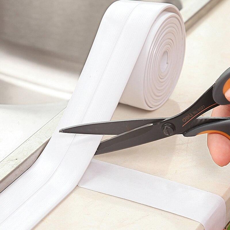1 рулон ПВХ материал кухня ванная комната стены уплотнительная лента Водонепроницаемый Плесень Доказательство клейкая лента 3,8 см X 3,2 м Прямая поставка