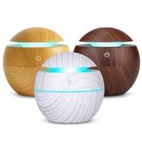 Diffuseur dhuile essentielle darome USB  humidificateur a brume fraiche ultrasonique  purificateur dair a 7 couleurs changeantes  veilleuse LED pour le bureau et la maison