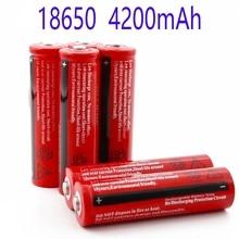 Batteria al litio 18650 3.7V Volt 4200mah BRC Li-ion ricaricabile per torcia GTL EvreFire della banca di potere