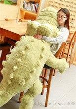 170cm gigante de felpa grande piel de cocodrilo peluche animal de peluche gran cojín almohada regalo lindo de felpa sin relleno