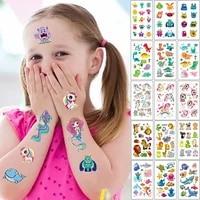 10 Sheet Set Kids Tattoo Cartoon Rainbow Unicorn Fake Tattoo Sticker Temporary Tattoos Waterproof Art Tatoo Hand Arm for Child