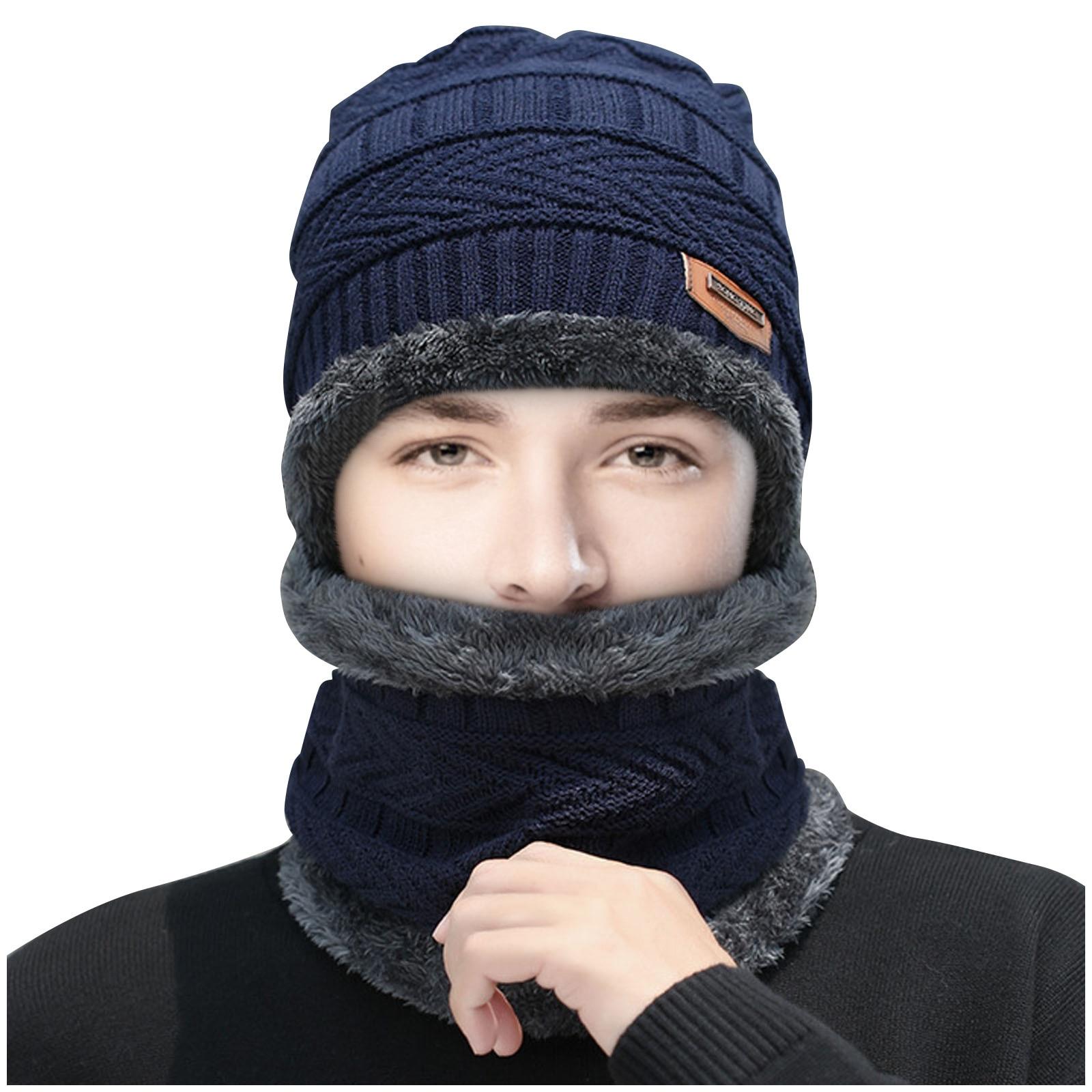 Gorro con bufanda para hombre y mujer de conjunto de ubicación gorra......