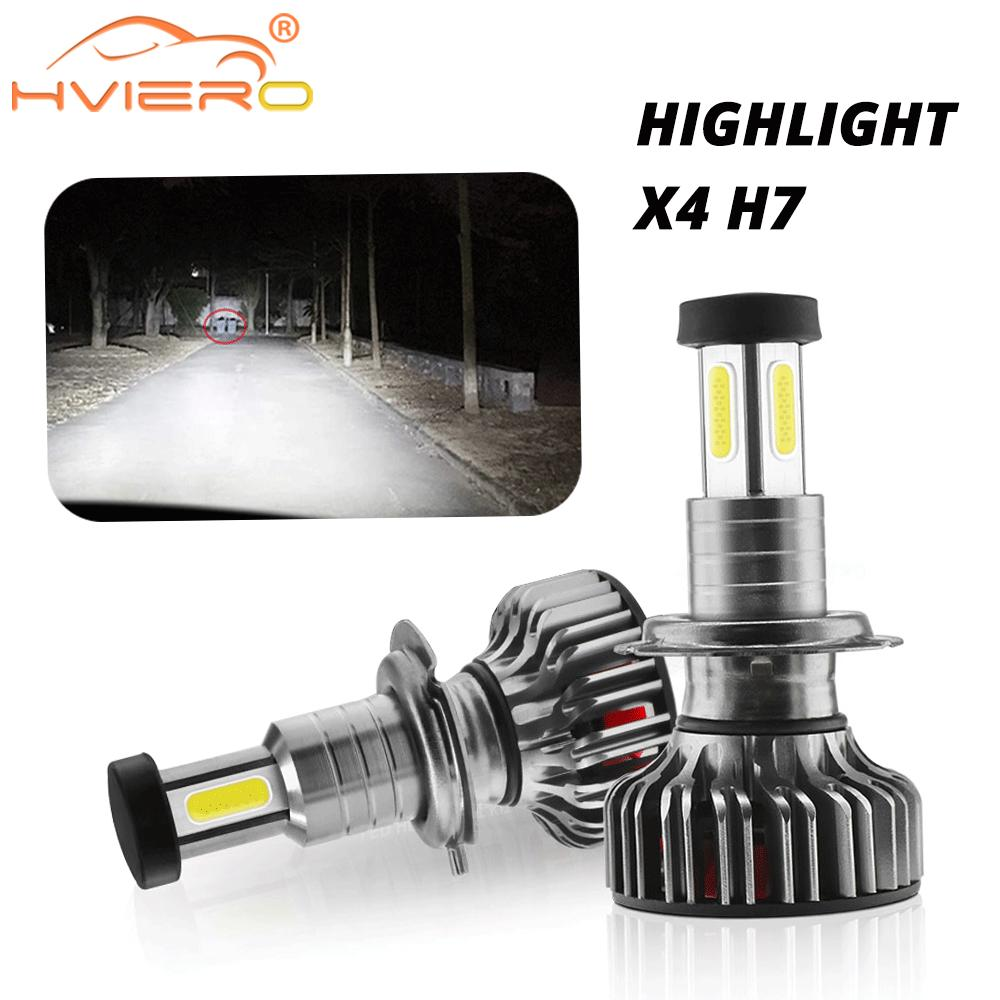Car Led 120W 30000LM Headlight Kit H7 H11 9005 9006 9012 Headlamp Plug Play 360° Turbo Cool Fan IP70 Fog Head Lamp Turn Signal