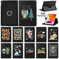 360 degrees rotating pu leather stand tablet cover for apple ipad mini 45ipad 234ipad 5678th shockproof protective shell
