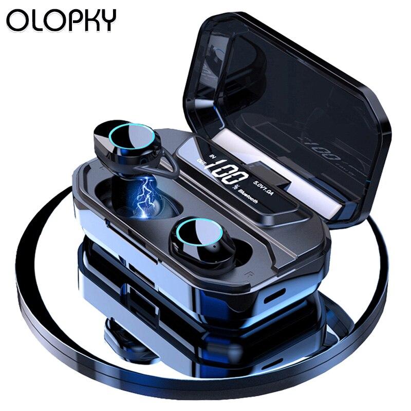 Auriculares Bluetooth 5,0, auténticos auriculares inalámbricos, resistentes al agua, deportivos, manos libres, auriculares con micrófono para Apple, iPhone, Android, Samsung, teléfono