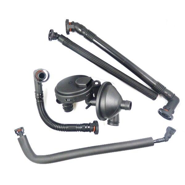 Válvula de ventilación de cárter PCV + Kit de manguera de ventilación de válvula de separador de aceite para BMW E36 E46 E39 E60 X5 X3 Z4 325i 330i 325Xi 11611432559