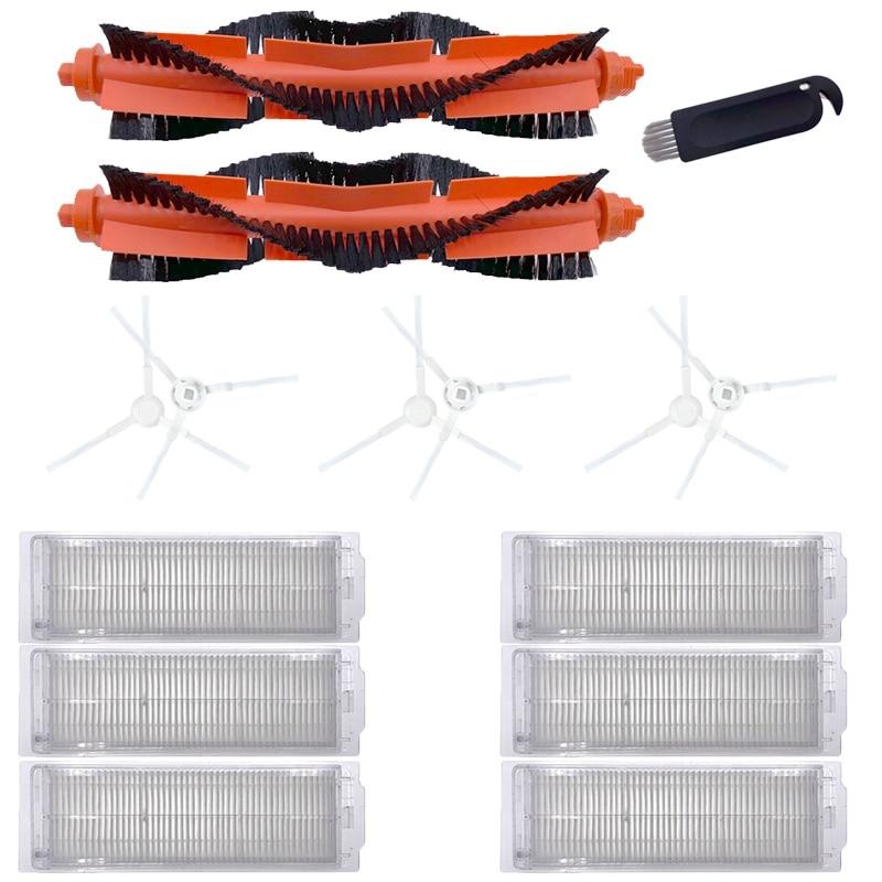 فرشاة جانبية فرشاة رئيسية فلتر Hepa ل شاومي Mijia STYJ02YM Mi Mop Pro ل Conga 3490 ل فيومي V2 برو V3 SE V-RVCLM21B