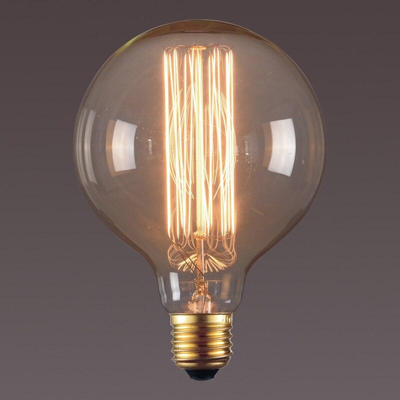 G125 G95 bombilla Retro de luz de Edison E27 220V 40W, bombillas de ampolla incandescente, lámpara Retro Edison, Luces de decoración