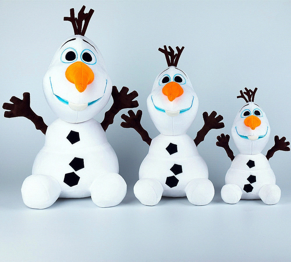 Disney Frozen 30/50cm Snowman Olaf Plush Toys Stuffed Plush Dolls Frozen 2 Olaf Soft Stuffed Animals For Kids Christmas Gifts