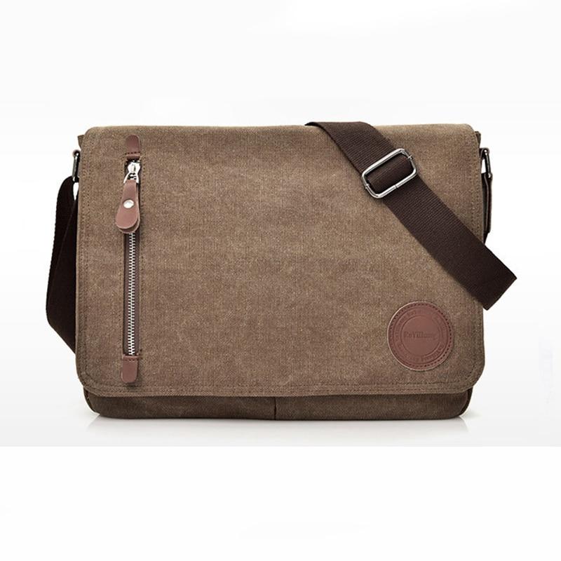 2020 Men Shoulder Bag Small Crossbody Leisure Handbags Vintage Male Zipper Canvas College Students M