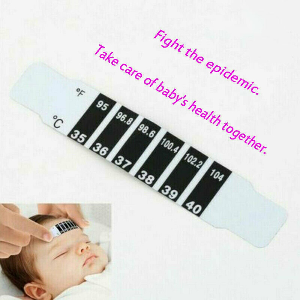 Creative LCD Color Change Child Forehead Thermometer Sticky Head Temperature Meter Reusable Flexible Toddler Care Health Monitor