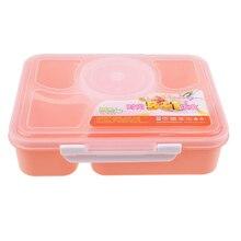 Microondas lancheira 5 compartimentos com sopa tigela colher caixa recipiente de comida quente